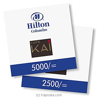 Hilton Gift Vouchers at Kapruka Online for specialGifts