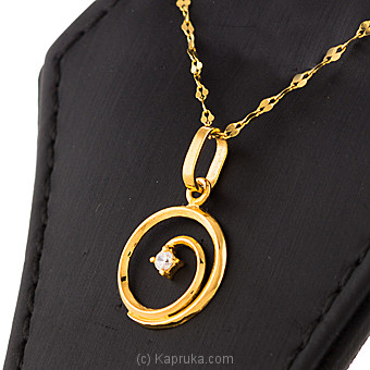 22kt Gold Pendant Set With Cubic Zirconia-P319/1 at Kapruka Online for specialGifts