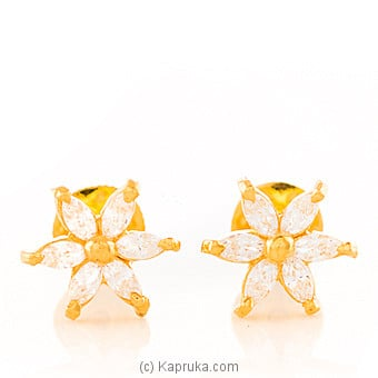22kt Gold E`stud Set With Cubic Zirconia-E632/1 at Kapruka Online for specialGifts