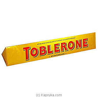 Toblerone Swiss Milk Chocolate With Honey and Almond Nougat 200g at Kapruka Online for specialGifts