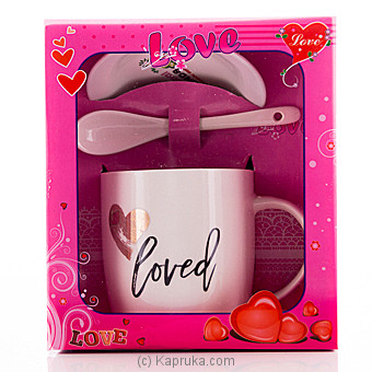Love Coffee Mug with Spoon at Kapruka Online for specialGifts