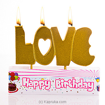 Love You Party Candles at Kapruka Online for specialGifts