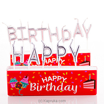 Happy Birthday Letter Candles at Kapruka Online for specialGifts