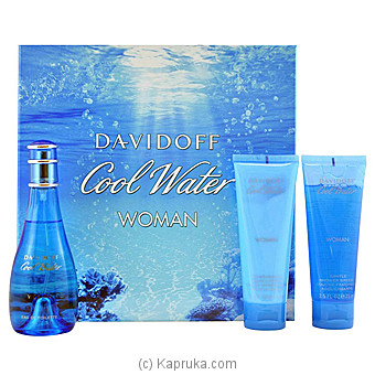Davidoff Cool Water 3 Piece Gift Set For Women at Kapruka Online for specialGifts