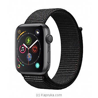 Apple Watch Series 4 44mm Space Gray Aluminium Case With Black Sport Loop By Apple at Kapruka Online forspecialGifts