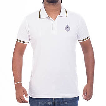 Royal College Short Sleeve White Polo Shirt at Kapruka Online for specialGifts