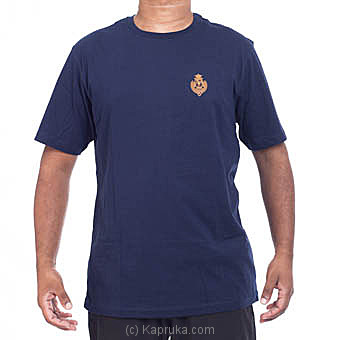 Royal College Plain T-Shirt With Crest (Blue) at Kapruka Online for specialGifts