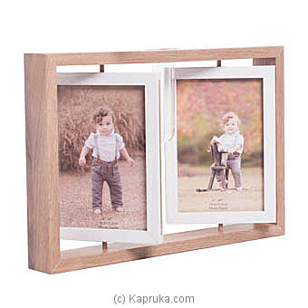 Wooden Double- Sided Rotating Photo Frame By HABITAT ACCENT at Kapruka Online forspecialGifts