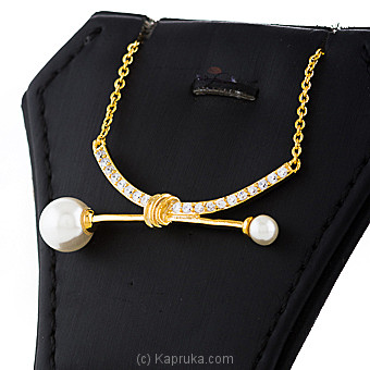 Pearl With Crystal Stones Necklace By Swarovski at Kapruka Online forspecialGifts