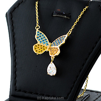 Butterfly Color Stones Pendant With Necklace By Swarovski at Kapruka Online forspecialGifts