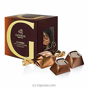 Godiva Milk Chocolate  Hazelnut 5 Piece G Cube Box at Kapruka Online for specialGifts