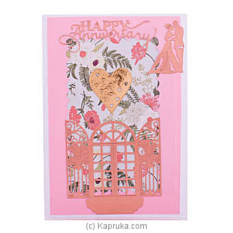 Handmade Happy Anniversary Greeting Card at Kapruka Online for specialGifts