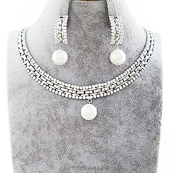 Silver Stones Jewelry Set at Kapruka Online for specialGifts