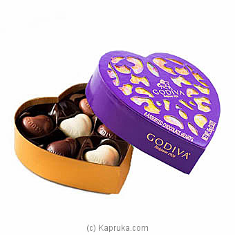 Godiva 6 Assorted Chocolate Hearts 0.65g at Kapruka Online for specialGifts