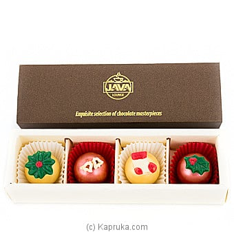 Java Christmas Bliss Chocolates ( 4 Piece) at Kapruka Online for specialGifts