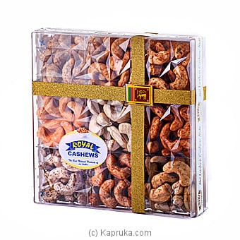 Royal Cashews 9 In 1 Rigit Container-Gift Pack-650g at Kapruka Online for specialGifts