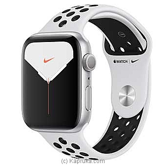 Apple IWatch Series 5 - 44mm Silver Aluminum GPS Nike Sport Band By Apple at Kapruka Online forspecialGifts