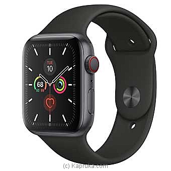 Apple IWatch Series 5 - 44mm Space Gray Aluminum GPS + Cellular - Black Sport Band By Apple at Kapruka Online forspecialGifts