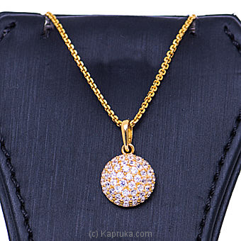 Vogue 22K Gold Pendant With 52(c/z) Rounds By Vogue at Kapruka Online forspecialGifts