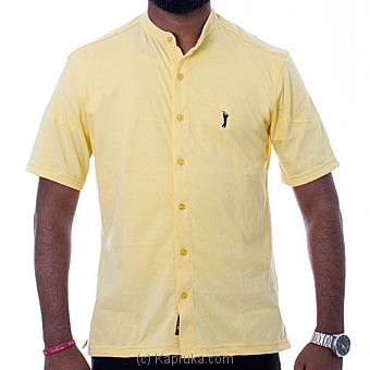 Golf Short Sleeve Shirt - Yellow - By Urban Golf at Kapruka Online forspecialGifts