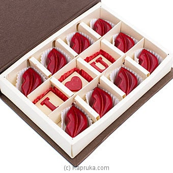 Java Caramel Filled Lips Bite 12 Piece Chocolate Box By NA at Kapruka Online forspecialGifts