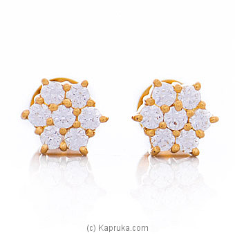 Vogue 22K Ear Stud Set With 14 Cz Rounds By Vogue at Kapruka Online forspecialGifts