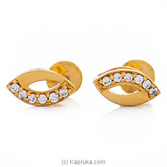 Vogue 22K Ear Stud Set With 12 Cz Rounds By Vogue at Kapruka Online forspecialGifts