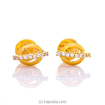 Vogue 22K Ear Stud Set With 16 Cz Rounds By Vogue at Kapruka Online forspecialGifts