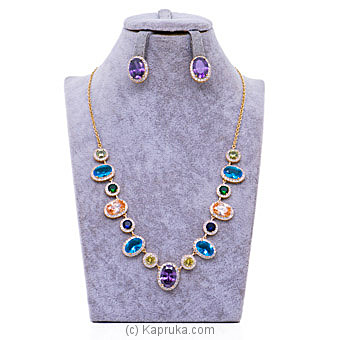 Cubic Zirconia Necklace Set By Stone `N` String at Kapruka Online forspecialGifts