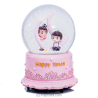 Musical Happy Couple Crystal Globe Ornament By Habitat Accent at Kapruka Online forspecialGifts