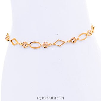 22kt Gold Bracelet Set With Cubic Zirconia (B512-1) By Mallika Hemachandra Jewellers at Kapruka Online forspecialGifts