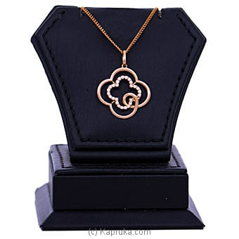 18kt Red Gold Pendant With Cubic Zirconia (P2040-1) By Mallika Hemachandra Jewellers at Kapruka Online forspecialGifts