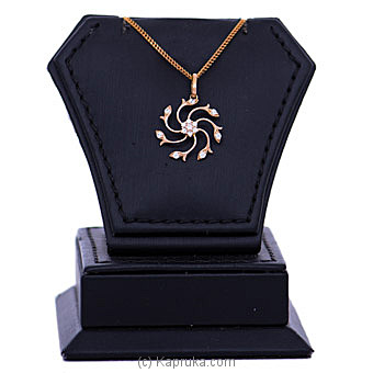 18kt Red Gold Pendant With Cubic Zirconia (P2039-1) By Mallika Hemachandra Jewellers at Kapruka Online forspecialGifts