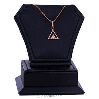 18kt Red Gold Pendant With Cubic Zirconia (P305-3) By Mallika Hemachandra Jewellers at Kapruka Online forspecialGifts