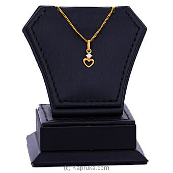 22kt Gold Pendant With Cubic Zirconia (P416-1) By Mallika Hemachandra Jewellers at Kapruka Online forspecialGifts