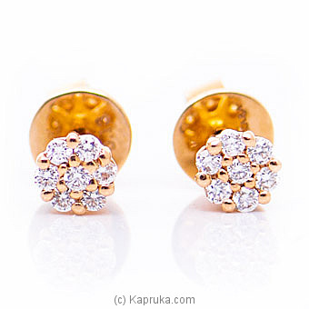 18k Rose Gold Earrings With VVS DIAMOND (ALE 271 1.3 B PINK) By Alankara at Kapruka Online forspecialGifts