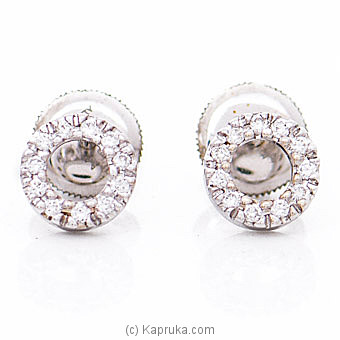 18k White Gold Earrings With VVS DIAMOND (ALE 1127-4) By Alankara at Kapruka Online forspecialGifts