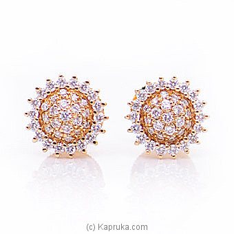 18k Rose Gold Earrings With VVS DIAMOND (ALE 1546 S PINK) By Alankara at Kapruka Online forspecialGifts