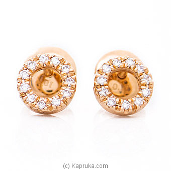 18k Rose Gold Earrings With VVS DIAMOND (ALE 1127 - 4 PINK) By Alankara at Kapruka Online forspecialGifts