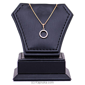 18k Rose Gold Pendant With Chain (AJP 4073 PINK) By Alankara at Kapruka Online forspecialGifts