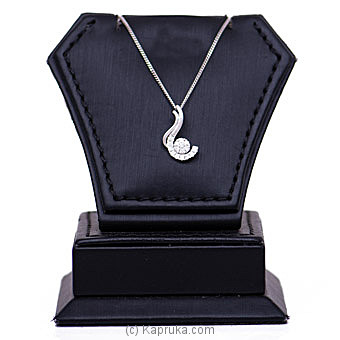 18k White Gold Pendant With Chain (AJP 3971) By Alankara at Kapruka Online forspecialGifts