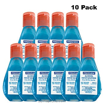 50 ML Prochem Alcohol Sanitizer - Ten Bottle Pack- Limit 2 Packs Per Customerat Kapruka Online forspecialGifts