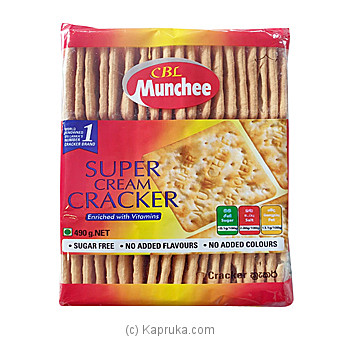 Munchee Super Cream Cracker 490g By Ceylon Biscuits Limited at Kapruka Online forspecialGifts