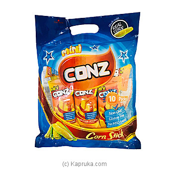 Mini Conz Family Pack- Cheese Flavour- 10 Corn Sticks Per Pack- 80gat Kapruka Online forspecialGifts
