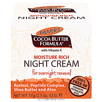 Palmer`s Cocoa Moisture Rich NIGHT Cream 75g By Palmers at Kapruka Online forspecialGifts