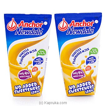 Anchor Newdale Vanilla Flavoured Milk- 180ml (2 Pack) By Anchor at Kapruka Online forspecialGifts