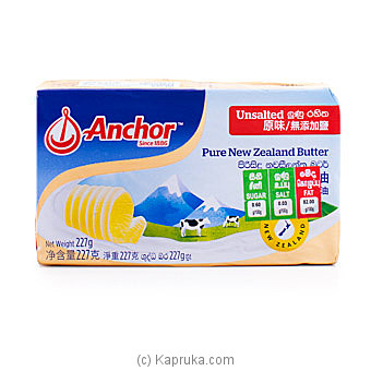 Anchor Unsalted Butter- 227g By Anchor at Kapruka Online forspecialGifts