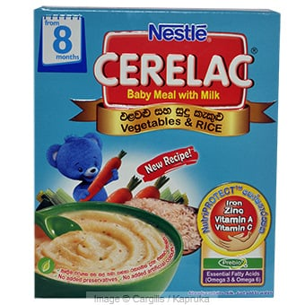 CERELAC PBIO VEG & RICE - 250GR at Kapruka Online for Foodcity