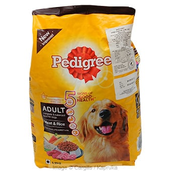 PEDIGREE ADULT MT & RICE - 1.2KG at Kapruka Online for Foodcity