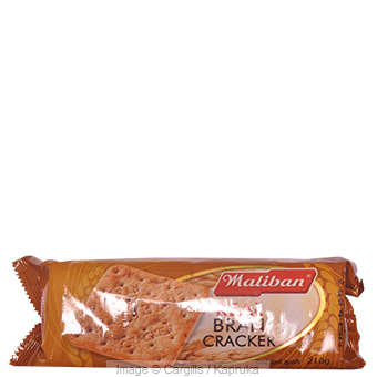 MALIBAN REAL BRAN CRACKER - 210 GR at Kapruka Online for Foodcity